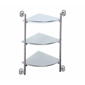 Полка угловая трехъярусная стекло Ledeme L1907-3