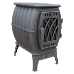 Чугунная печь-камин Бахта