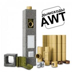 Комплект дымохода 140 мм, керамика, AWT