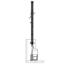 Комплект дымохода 150 мм, эмалированный, Permeter, насадной