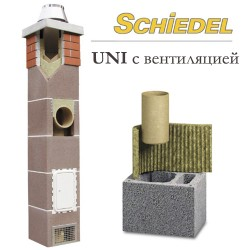 Комплект дымоход 160 мм, керамика, Schiedel UNI 16 с вентканалом